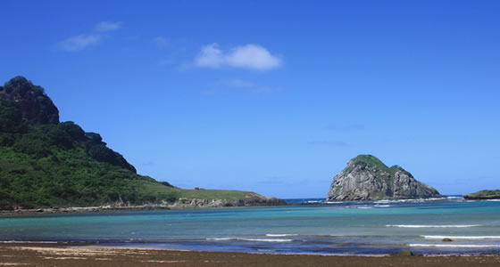 On your own in Noronha Islands, Brazil.